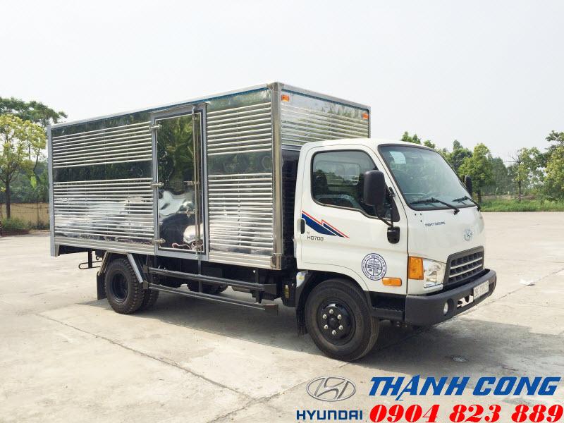 Xe tải Hyundai HD700 Đồng Vàng Thùng Kín 7 Tấn