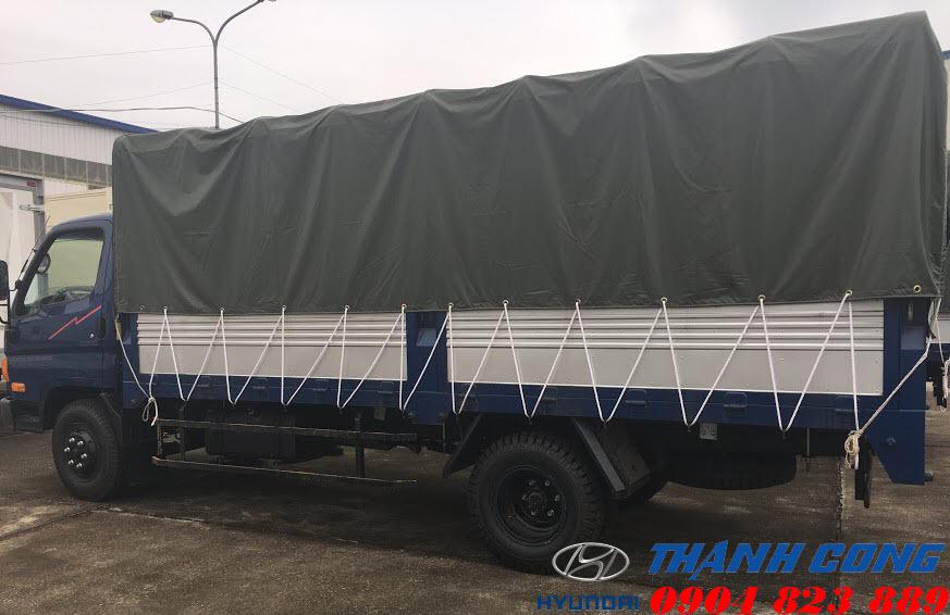 Hyundai HD700 Thùng Mui Bạt 7 Tấn Đồng Vàng