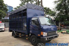 Xe tải chuyên dụng chở xe máy HD700 Đồng Vàng 2 tầng có bửng nâng