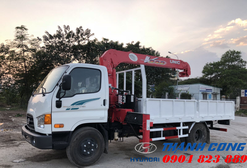 Xe tải Hyundai 110S Thành Công gắn cẩu UNIC UR-V340