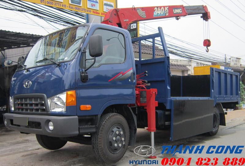 Hyundai 110S 7 Tấn gắn cẩu UNIC UR-V344