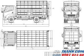 Xe tải Đô Thành IZ65 Chở Gia Súc Thùng Bửng Nâng Hạ