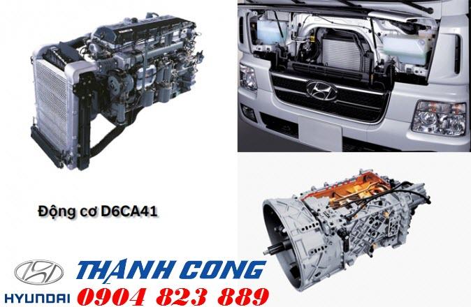 Động cơ xe đầu kéo hyundai hd700