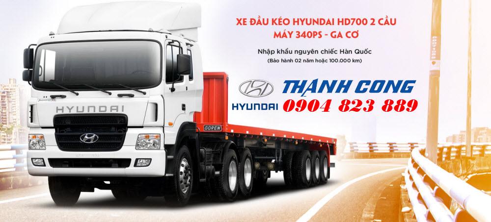 Xe đầu kéo Hyundai HD700 Nhập Khẩu