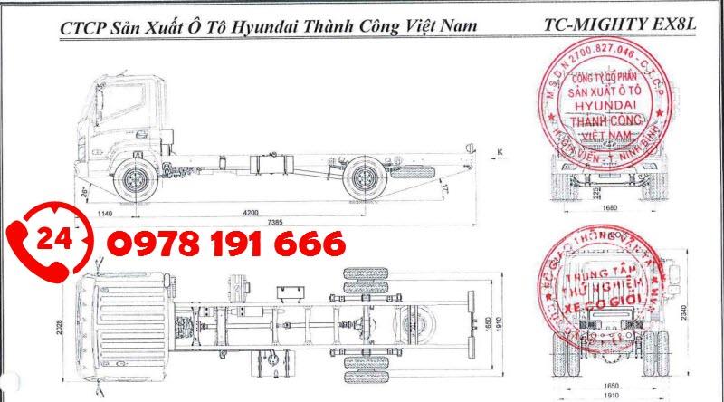 Thông số kỹ thuật Hyundai EX8L
