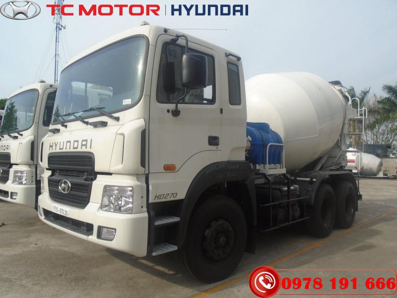 Xe trộn bê tông Hyundai HD270 Mixer