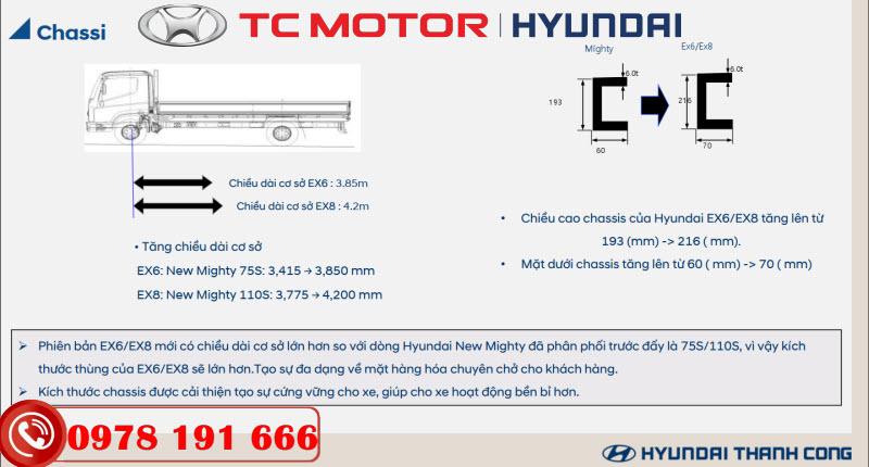 Sát xi xe tải Hyundai EX8