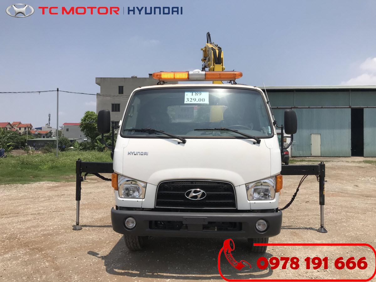 Xe tải cứu hộ giao thông sàn trượt càng kéo Hyundai 110SP